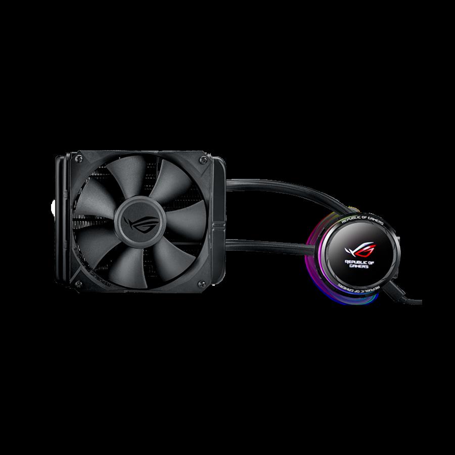Asus ROG Ryuo 120mm Liquid CPU Cooler, 1 x 12cm PWM Fan, Full Colour OLED Display, RGB