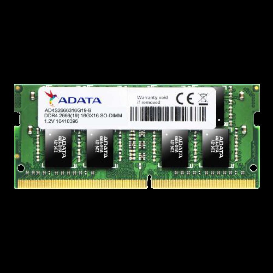 ADATA Premier 4GB, DDR4, 2400MHz (PC4-19200), CL17, SODIMM Memory, 512x16