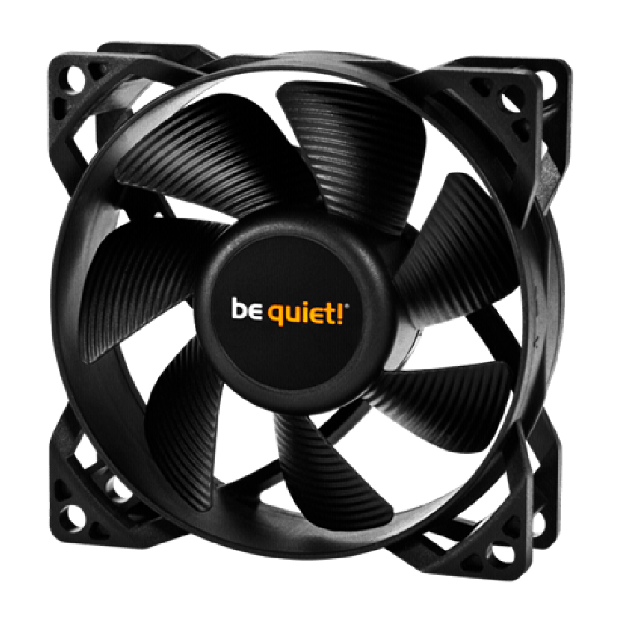 Be Quiet! BL046 Pure Wings 2 12CM Case Fan, Rifle Bearing, Ultra Quiet - Black