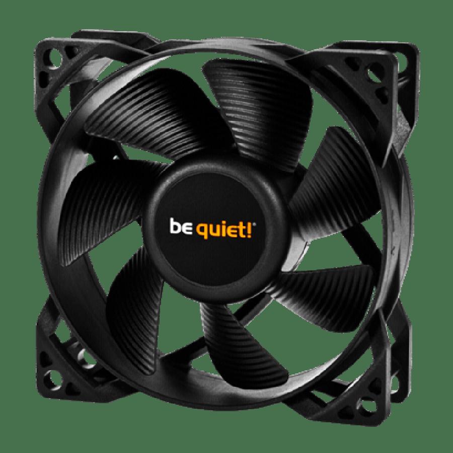 Be Quiet! BL044 Pure Wings 2 8CM Case Fan, Rifle Bearing, Ultra Quiet - Black