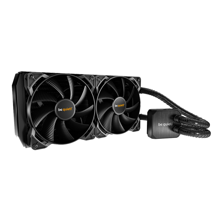 Be Quiet! Silent Loop 240mm Liquid CPU Cooler, Full Copper, 2 x 12cm Pure Wings 2 PWM Fans