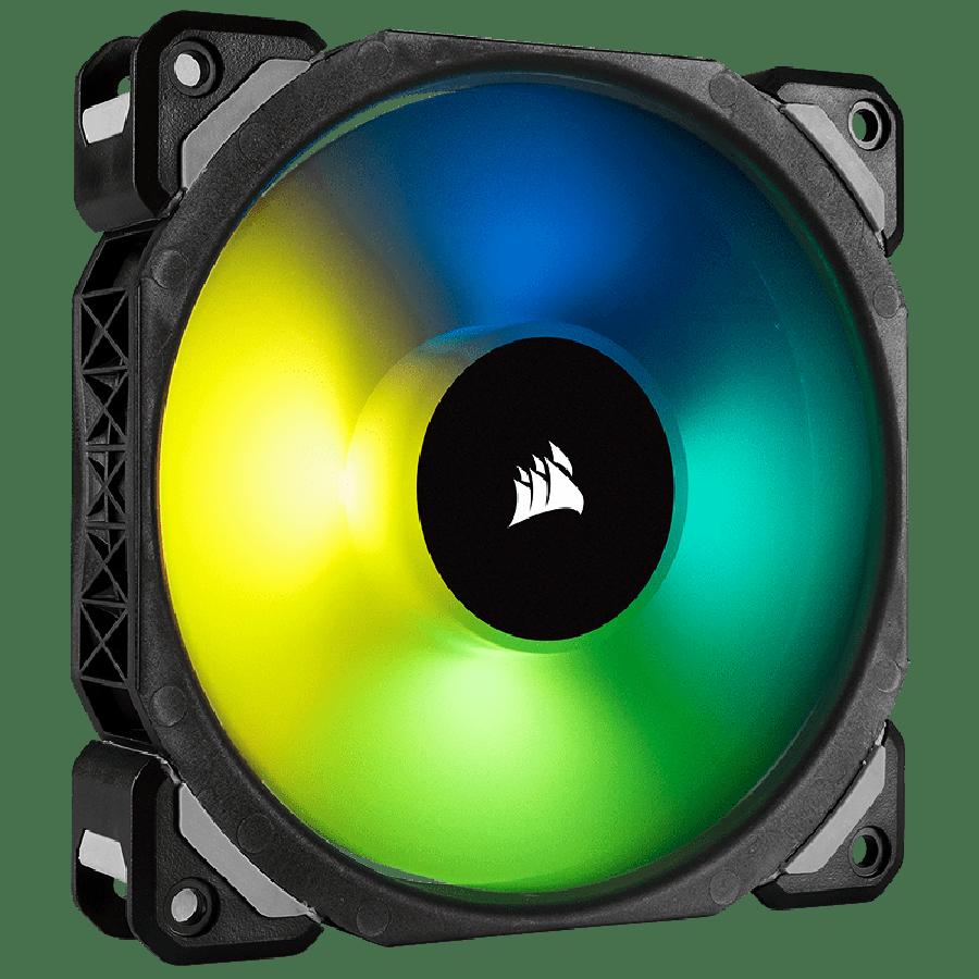 Corsair ML140 Pro 14CM, Magnetic Levitation Bearing PWM RGB Case Fan - Black with RGB LEDs