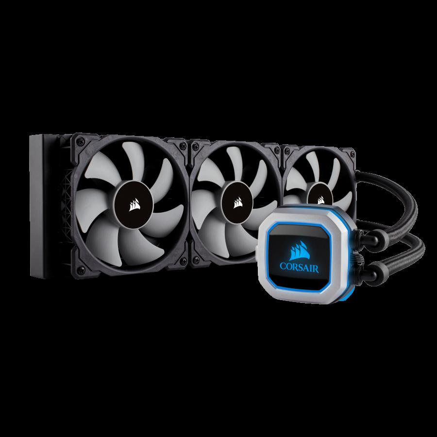 Corsair Hydro H150i Pro 360mm RGB Liquid CPU Cooler, 3 x 12cm PWM Fans, LED Pump Head