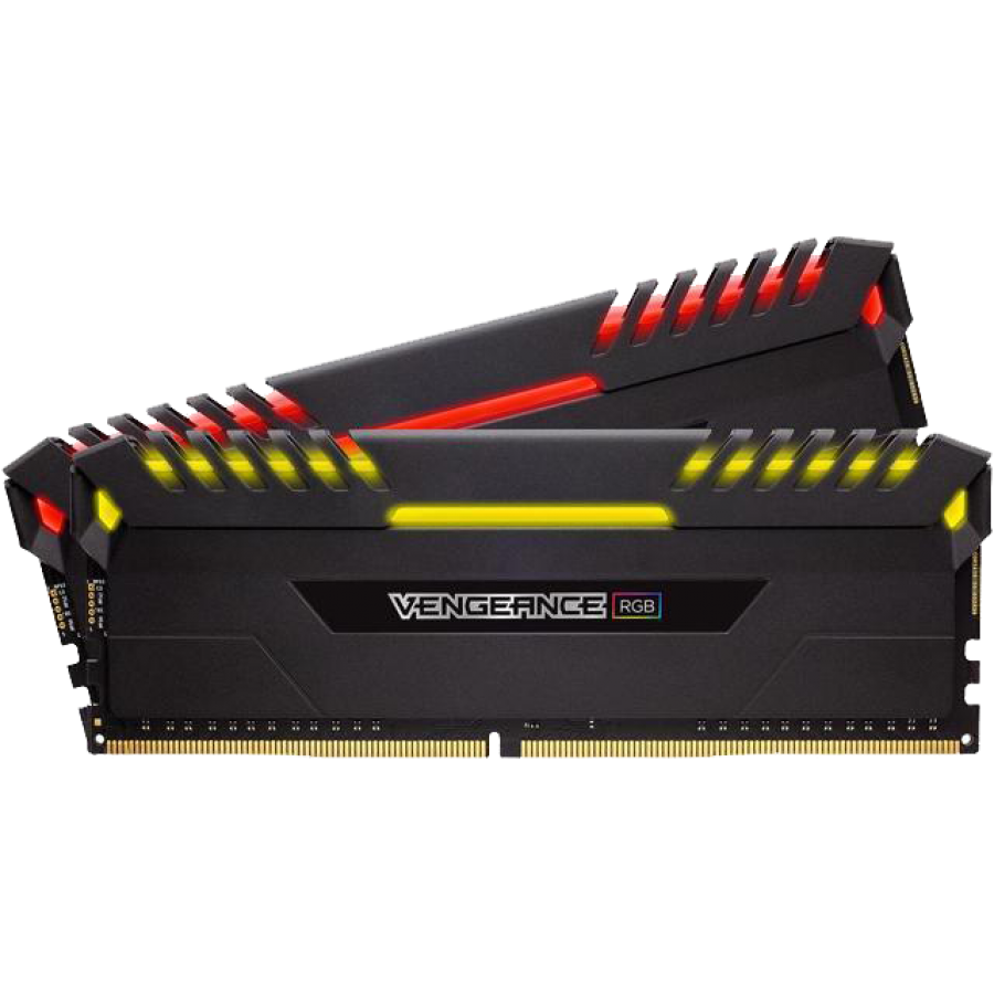 Corsair Vengeance RGB 16GB Kit (2 x 8GB), DDR4, 3000MHz (PC4-24000), CL15, XMP 2.0, DIMM Memory