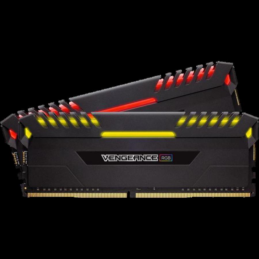Corsair Vengeance RGB 32GB Kit (2 x 16GB), DDR4, 2666MHz (PC4-21300), CL16, XMP 2.0, DIMM Memory