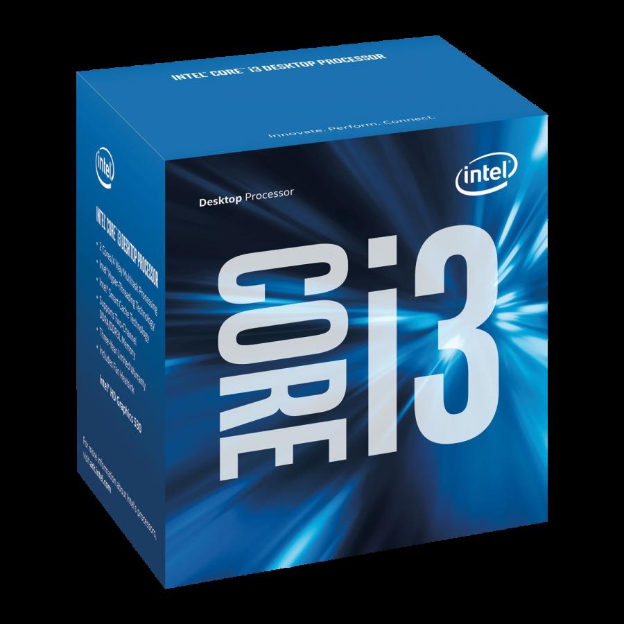 Intel Core I3-6100 CPU, 1151, 3.7 GHz, Dual Core, 47W, 14nm, 3MB Cache, HD GFX, 8 GT/s, Sky Lake