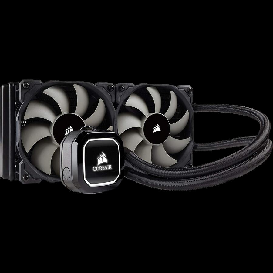 Corsair Hydro H100X 240mm Liquid CPU Cooler, 2 x 12cm PWM Fans, LED Pump Head