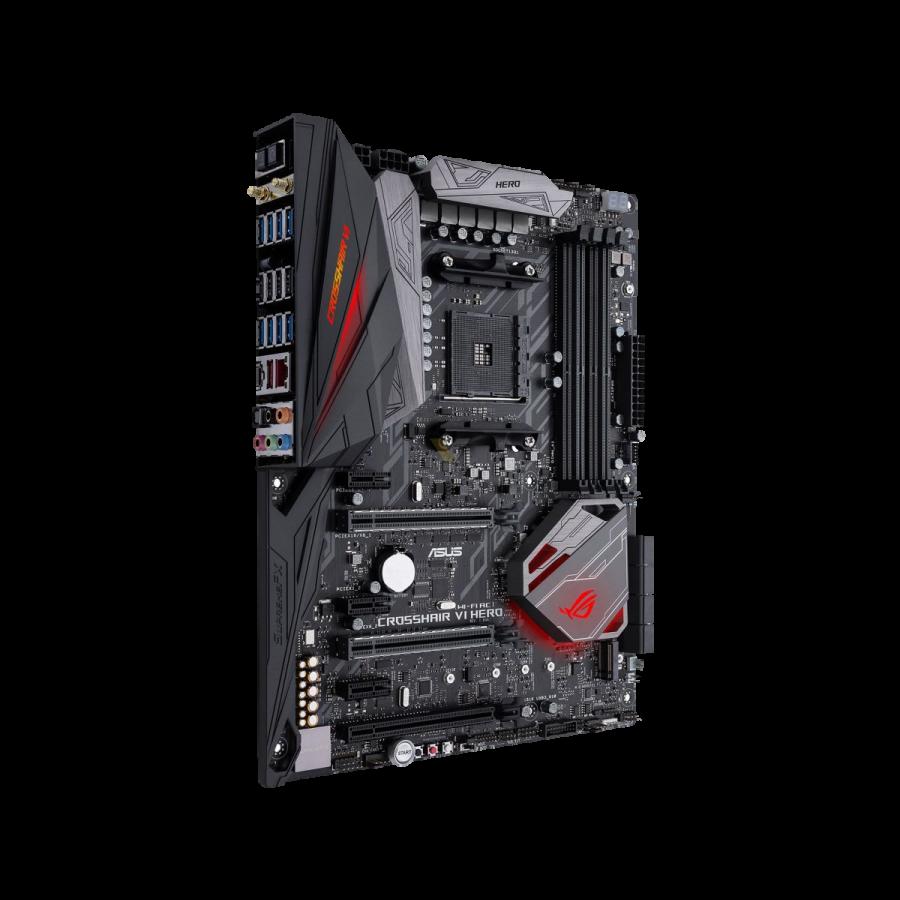 Asus ROG CROSSHAIR VI EXTREME, AMD X370, AM4, EATX, 4 DDR4, XFire/SLI, Wi-Fi, M.2 Heatsink, RGB Lighting