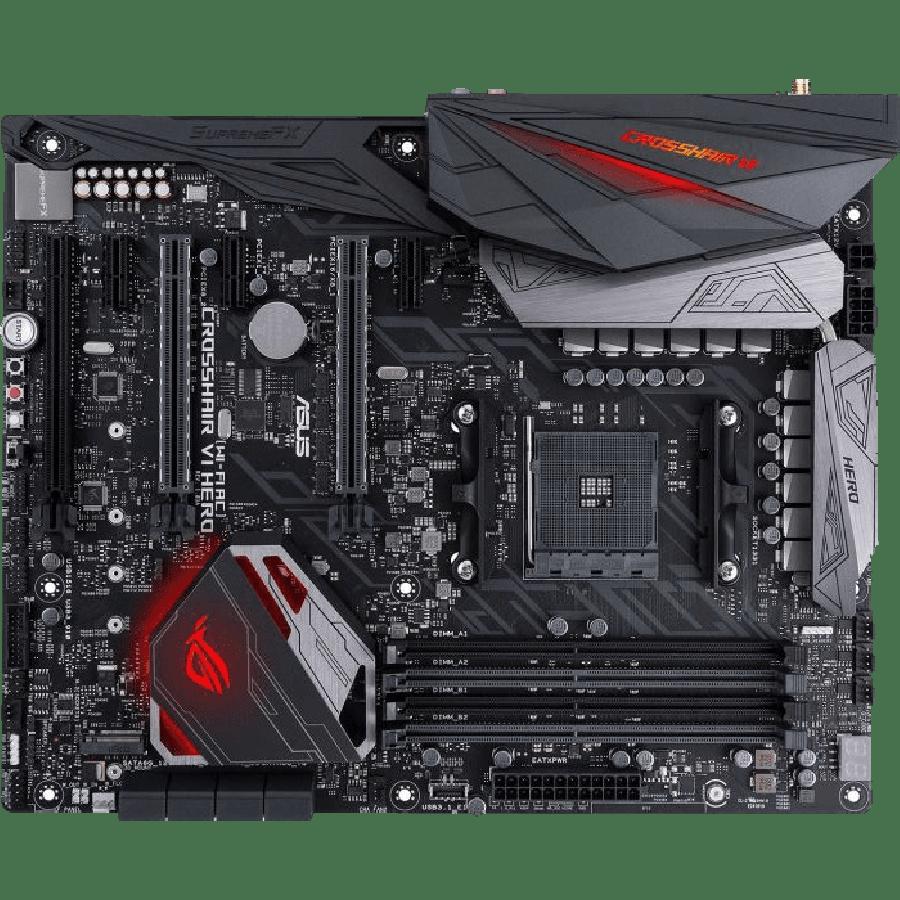 Asus ROG CROSSHAIR VI HERO (Wi-Fi AC), AMD X370, AM4, ATX, 4 DDR4, XFire/SLI, Wi-Fi, RGB Lighting