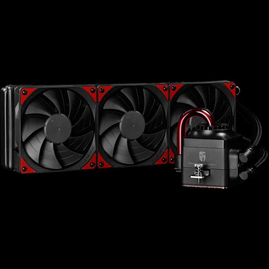Deepcool GamerStorm Captain 360EX Liquid CPU Cooler, 120mm Radiator, 3 x 12cm Fans, Bionic Red LED