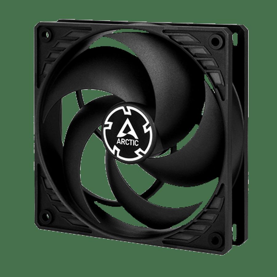 Arctic P12 12CM Pressure Optimised PWM PST Case Fan, Fluid Dynamic - Black