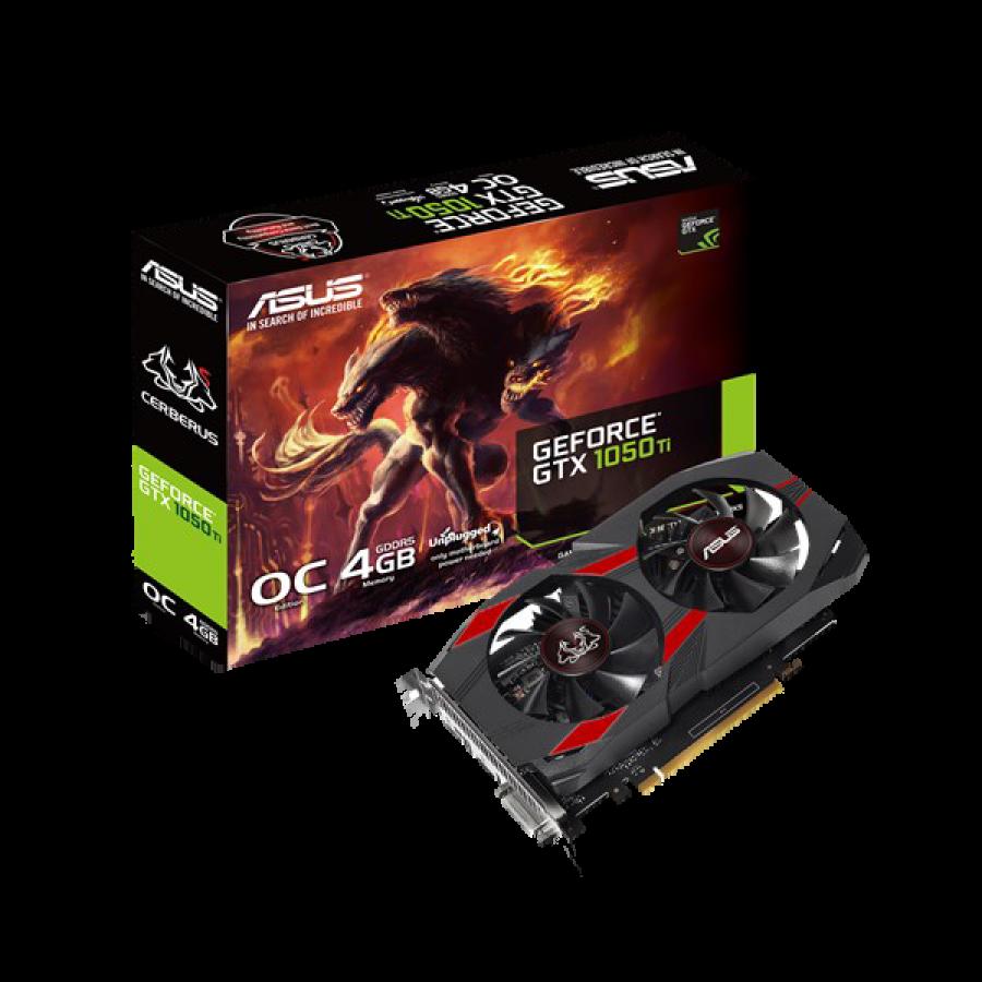 Asus Cerberus GTX1050 Ti OC, 4GB DDR5, PCIe3, DVI, HDMI, DP, 1455MHz OC