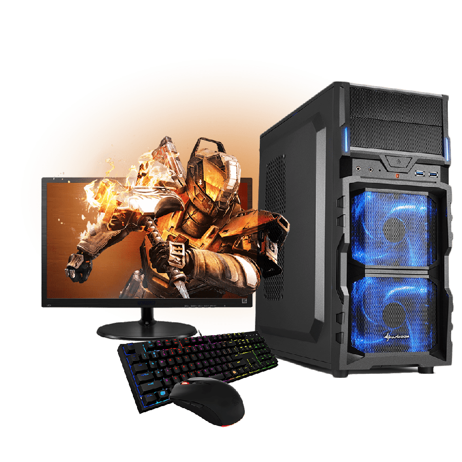 Refurb - CK Intel i5, 8GB RAM, 500GB HDD,19-Inch Monitor, Full Set Gaming PC - A