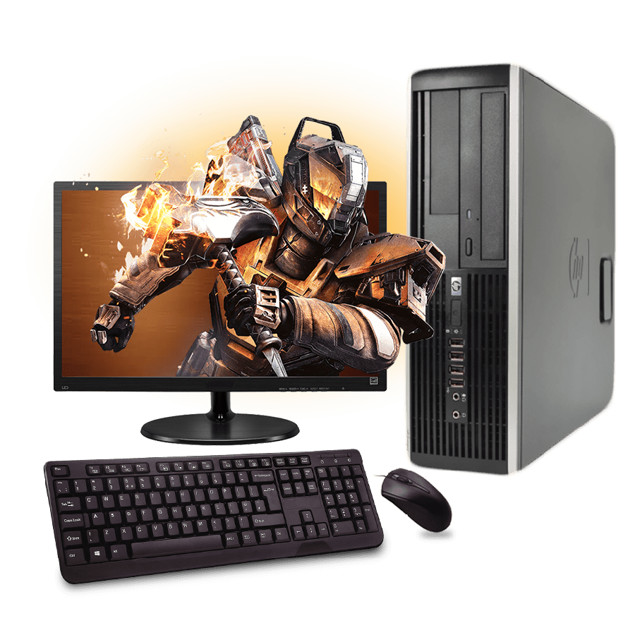 Refurb - CK HP Intel Core i5-2400, Slim Full Set Gaming PC