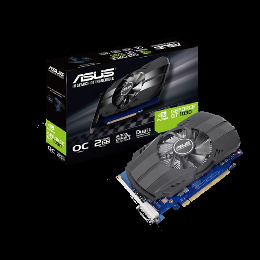 Asus Phoenix GT1030 OC, 2GB DDR5, PCIe3, DVI, HDMI, 1531MHz, Compact