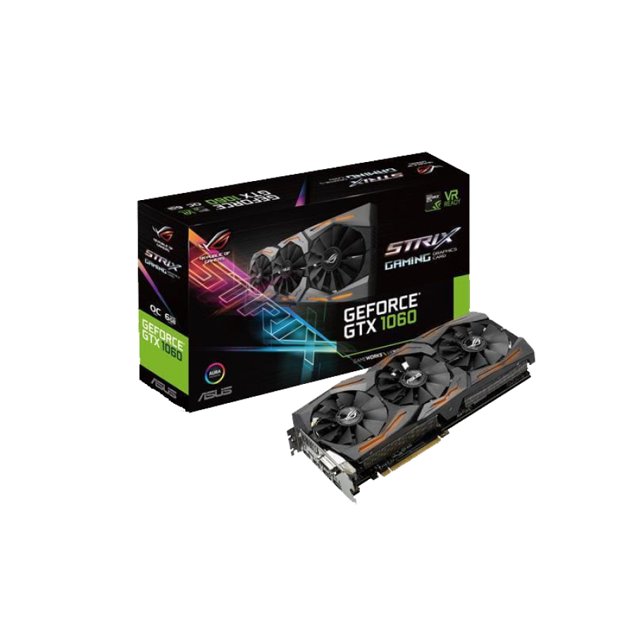 Asus GTX1060 STRIX OC, 6GB DDR5, DVI, 2 HDMI, 2 DP, RGB Lighting, 1873 MHz, Overclocked
