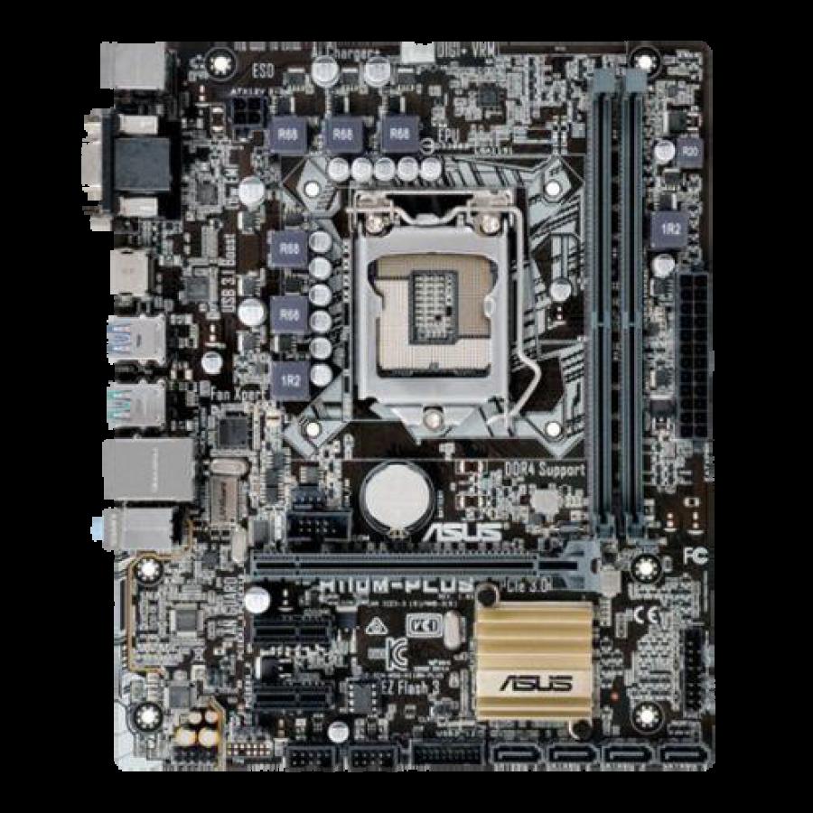 Asus H110M-PLUS, Intel H110, 1151, Micro ATX, DDR4, USB 3.1, VGA, DVI, HDMI