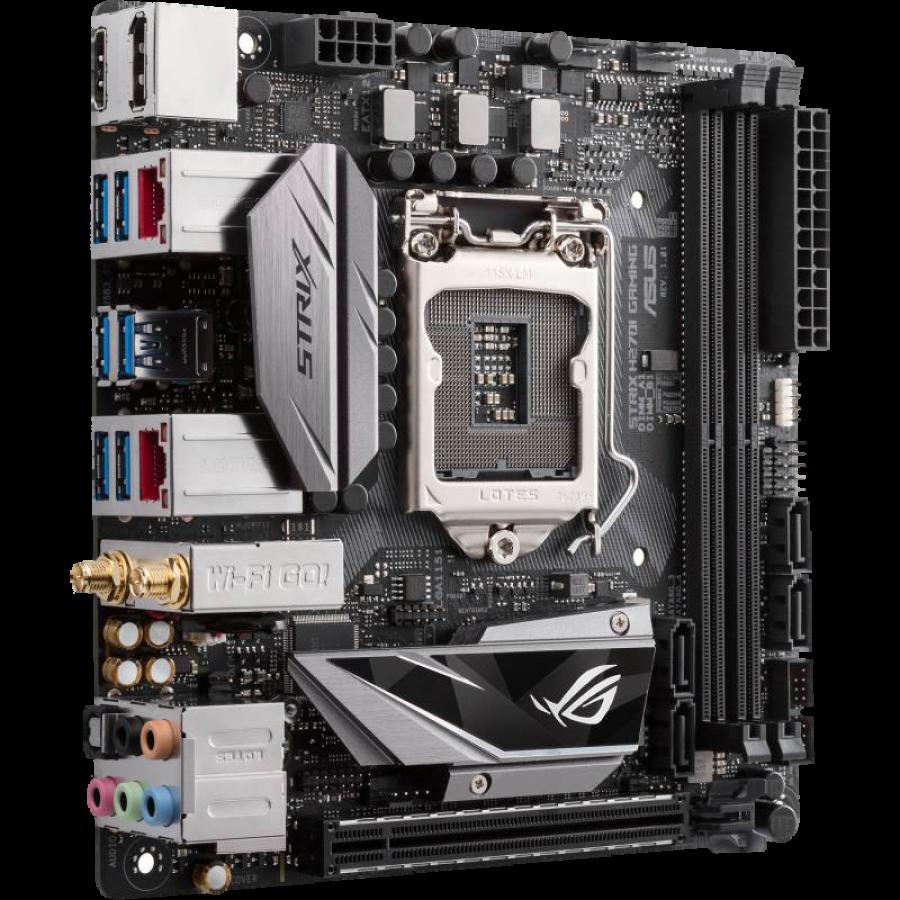 Asus ROG STRIX H270I GAMING, Intel H270, 1151, Mini ITX, 2 DDR4, Wi-Fi, HDMI, DP, Dual GB LAN, RGB Lighting