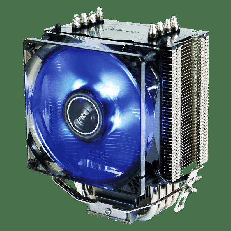 Antec A40, Intel & AMD Sockets, Whisper-Quiet 9.2CM PWM, Fluid Dynamic Bearing, Pro Heatsink & Fan - Black with a Blue LED