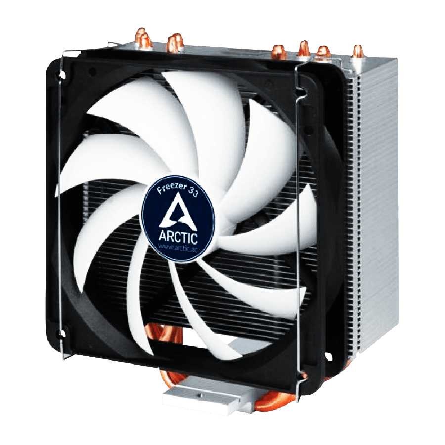Arctic Freezer 33, Intel & AM4 Sockets, Fluid Dynamic Bearing, Semi Passive Heatsink & Fan - Black & White