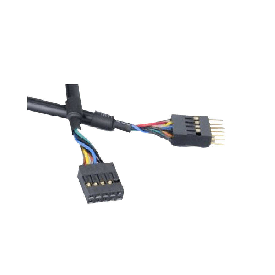 Akasa USB Female to Male Motherboard Connector, 40-CM - Black