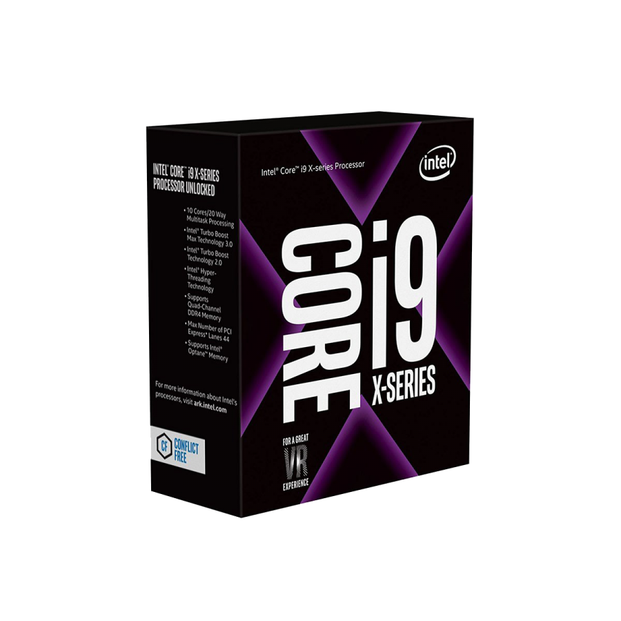 Intel Core i9-7900X CPU, 2066, 3.30GHz (4.3 Turbo), 10-Core, 140W, 13.75MB Cache, Overclockable, No Graphics, Sky Lake, NO HEATSINK/FAN