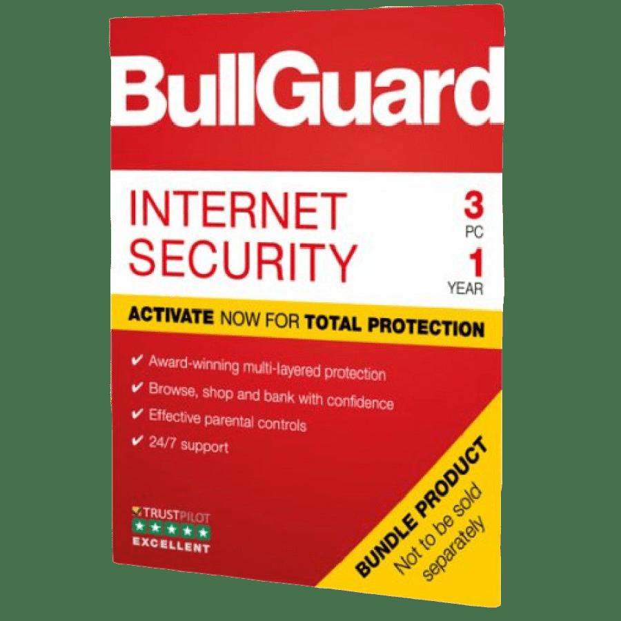 Bullguard Internet Security 2019 Soft Box, 3 User - Single, Windows Only, 1 Year