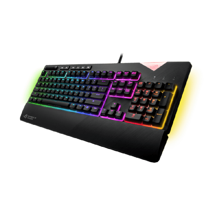 Asus ROG STRIX FLARE Mechanical RGB Gaming Keyboard, Cherry MX Red Switches, Macro & Media Keys, Aura Sync