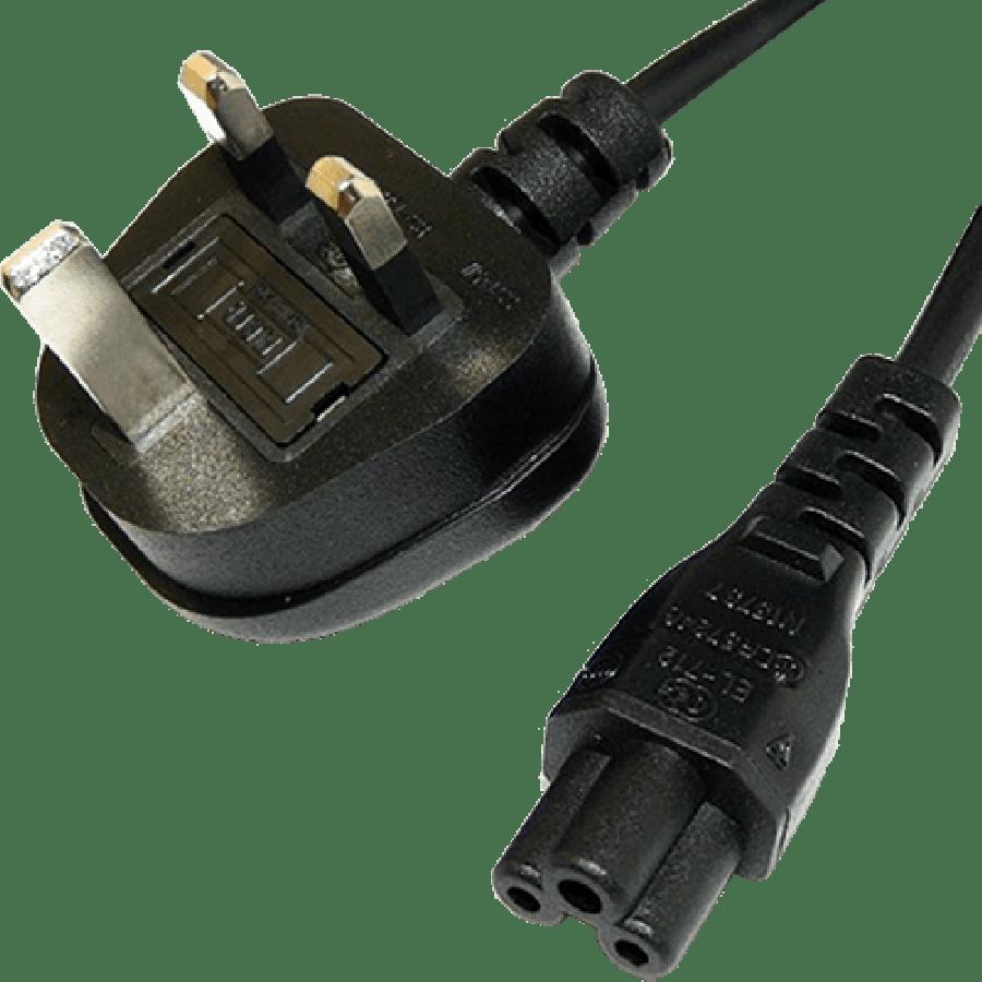 Spire UK Power Lead, Cloverleaf, Moulded Plug, 1.8-Metres