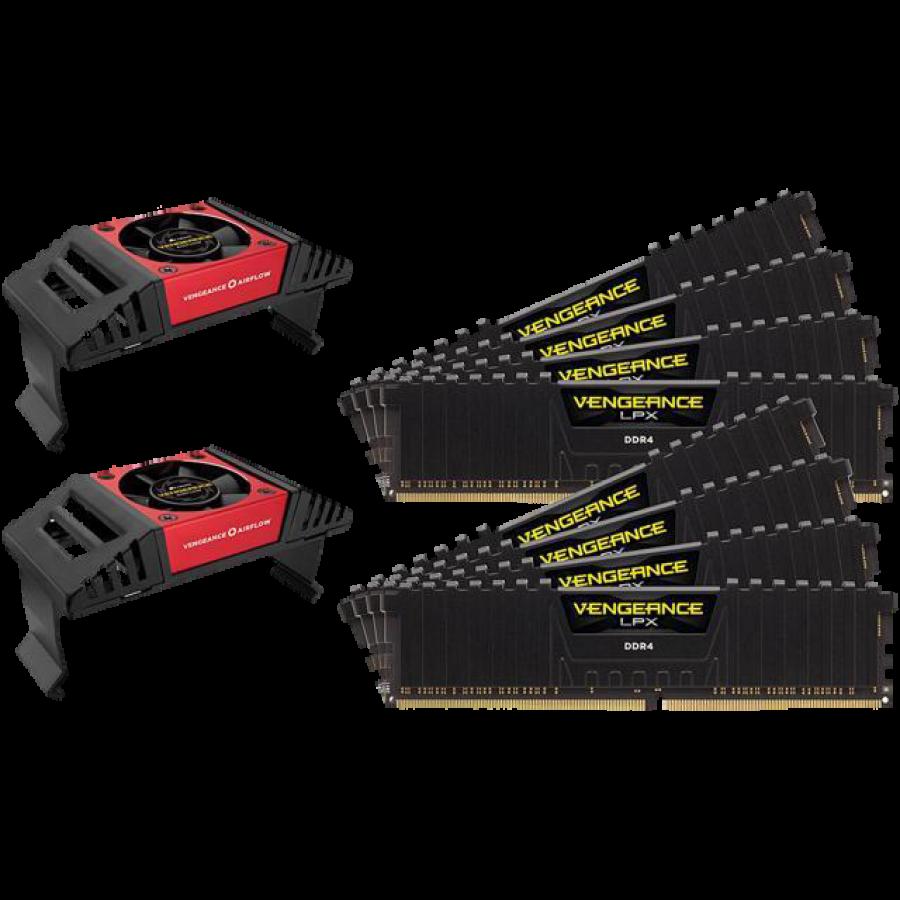 Corsair Vengeance LPX 128GB Memory Kit (8 x 16GB) with Vengeance Airflow Coolers, DDR4, 2400MHz (PC4-19200), CL14, XMP 2.0