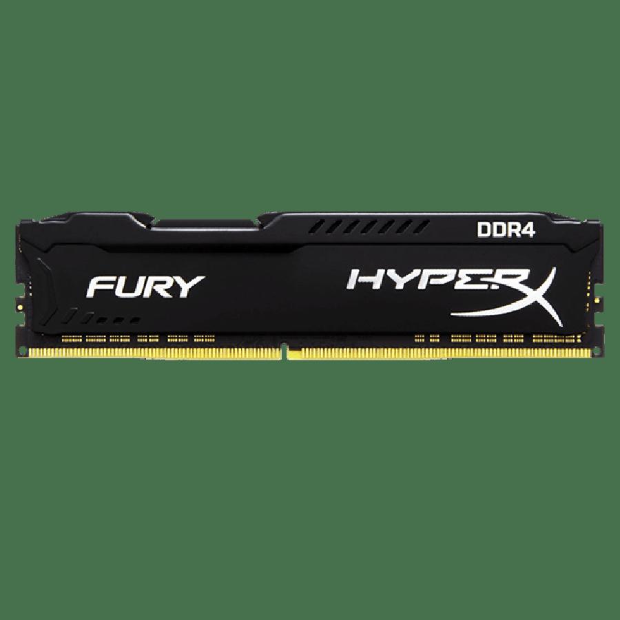 HyperX Fury Black 8GB PC4-19200 DDR4 2400MHz Non-ECC Unbuffered CL15 288-Pin 1.2V XMP 2.0 DIMM Single Rank Memory Module