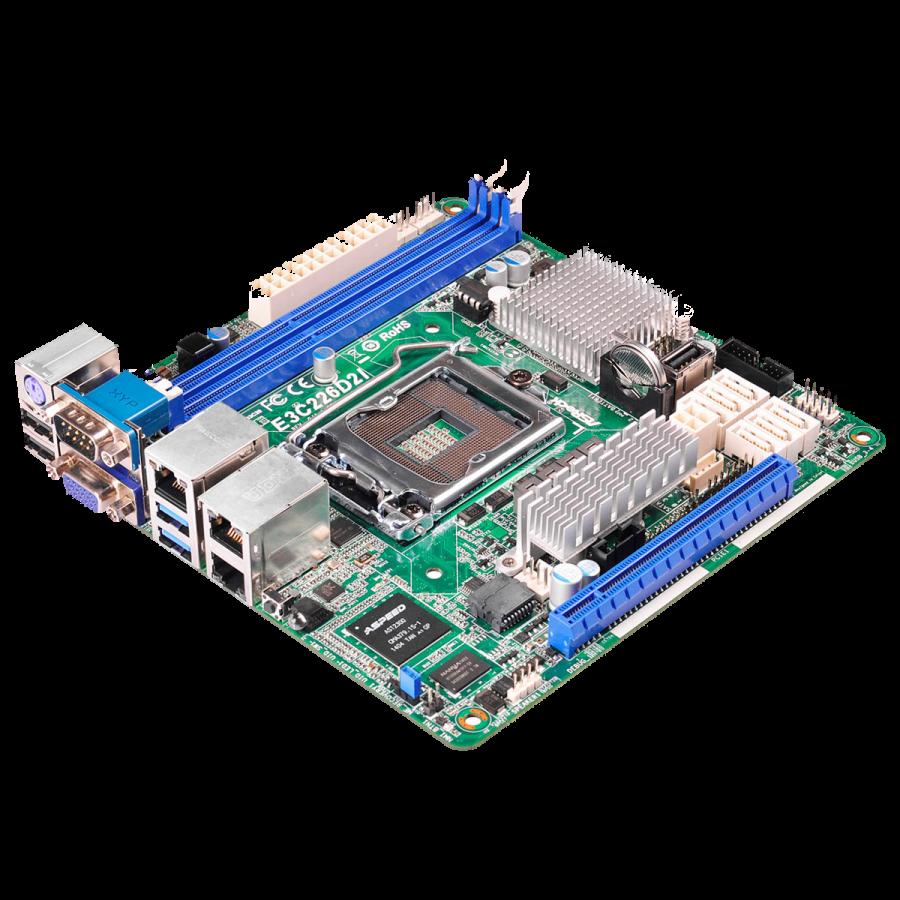 Asrock Rack E3C226D2I Server Board, Intel C226, 1150, Mini ITX, Dual GB LAN, IPMI