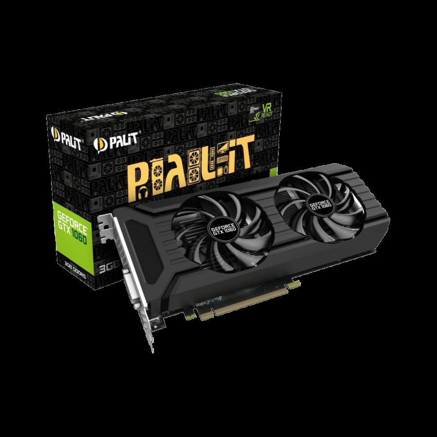 Palit GTX1060 DUAL, 3GB DDR5, 1708MHz, DVI, HDMI, 3 DP