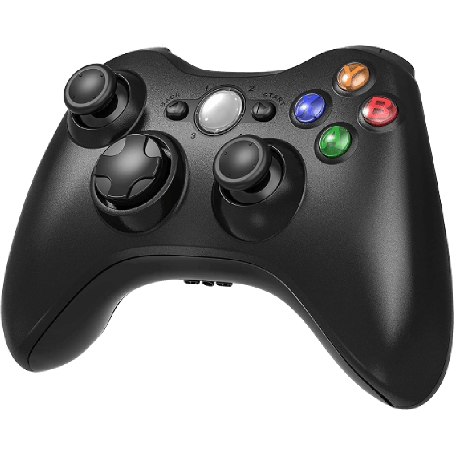 Refurbished Xbox 360 Console Controller - Black
