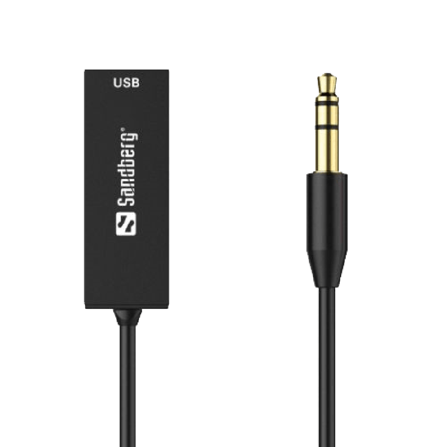 Sandberg Bluetooth 5.0 Audio Link through 3.5 mm Jack, USB Powered - Black