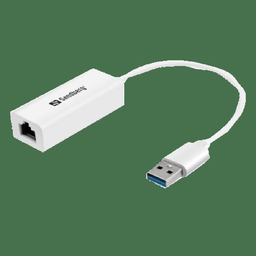 Sandberg USB 3.0 Gigabit Network Adapter - White