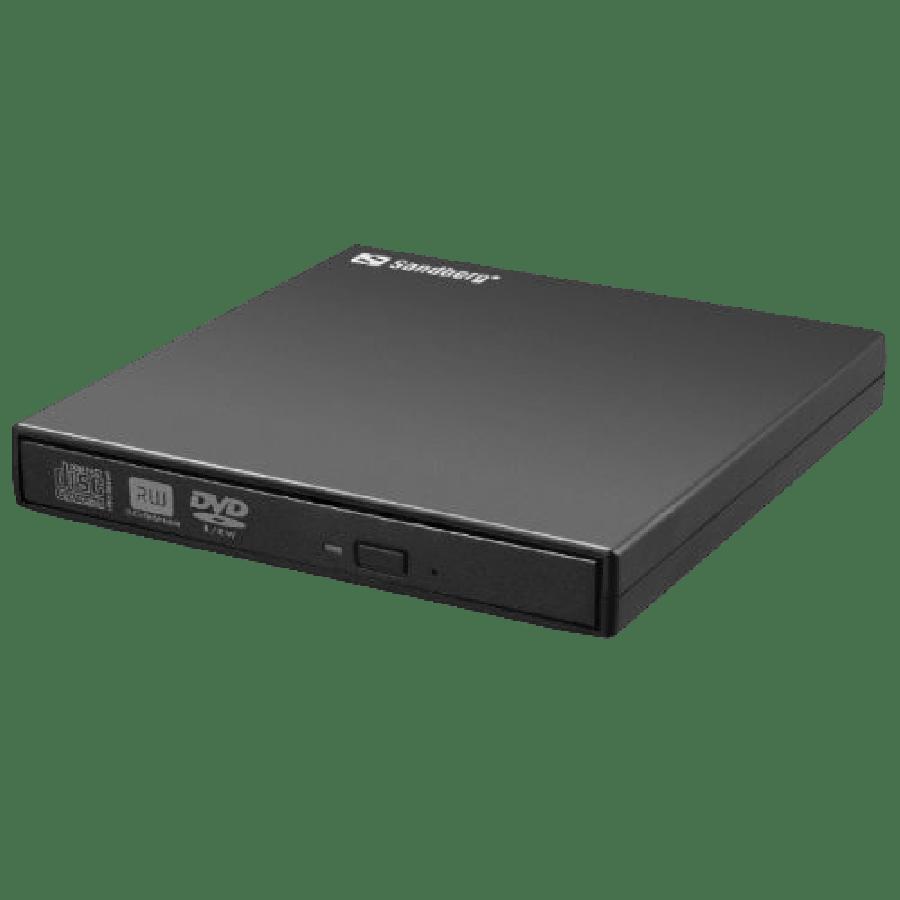 Sandberg (133-66) External Mini DVD Re-Writer, USB, 8x - Black
