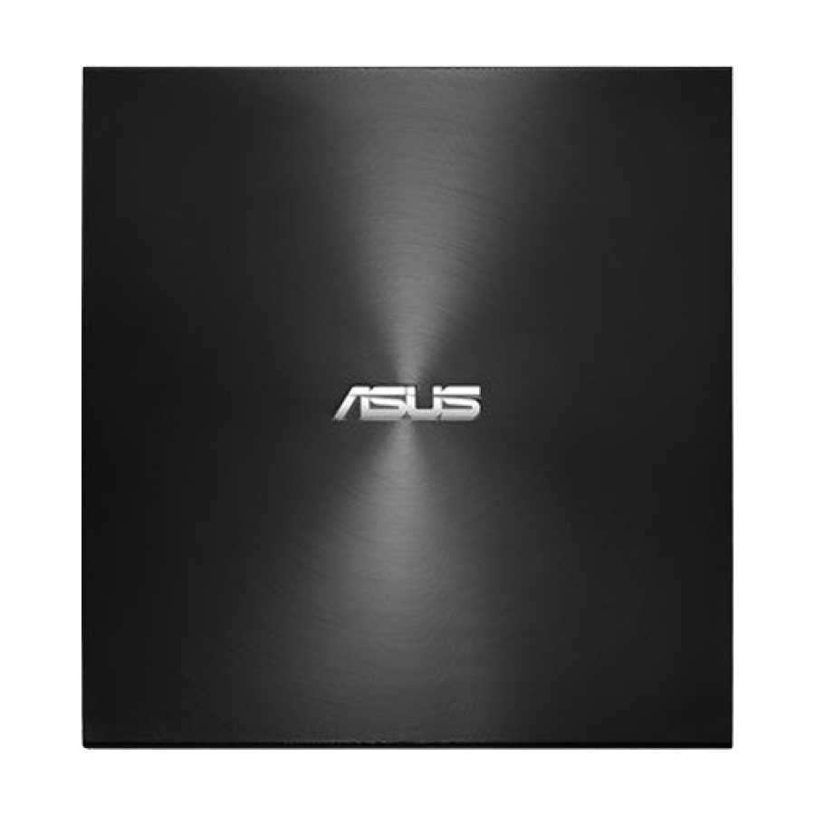 Asus (ZenDrive U9M) External Slimline DVD Re-Writer, USB-A / USB-C, 8x, M-Disc Support, Cyberlink Power2Go 8 - Black