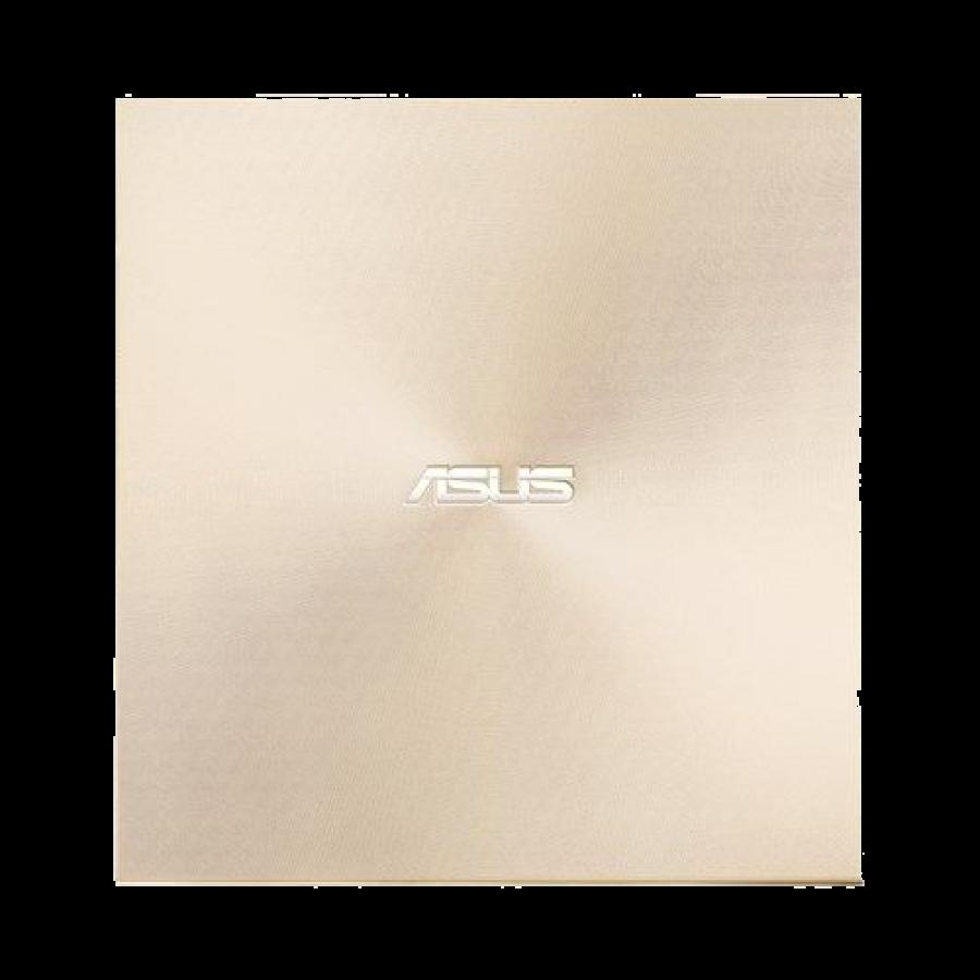 Asus (ZenDrive U9M) External Slimline DVD Re-Writer, USB-A / USB-C, 8x, Black, M-Disc Support, Cyberlink Power2Go 8, Gold