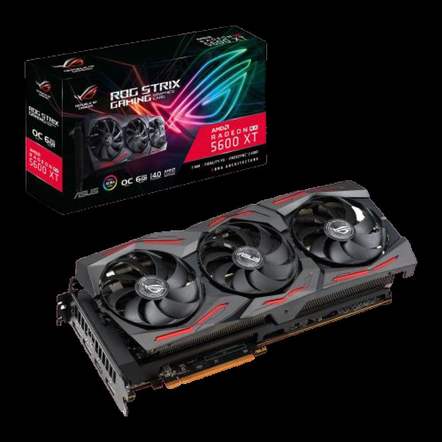 Asus ROG STRIX RX5600 XT OC, 6GB DDR6, PCIe4, HDMI, 3 DP, 1770MHz Clock, RGB Lighting