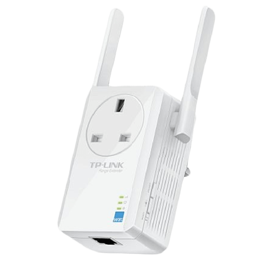 TP-Link (TL-WA860RE) 300Mbps Wall-Plug Wifi Range Extender, AC Passthrough, 1 LAN