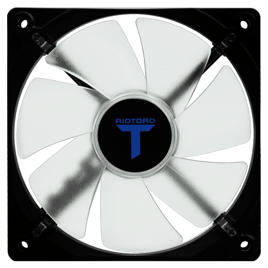 Riotoro Cross-X Classic Case Fan, 12CM, Hydraulic Bearing - Blue LED