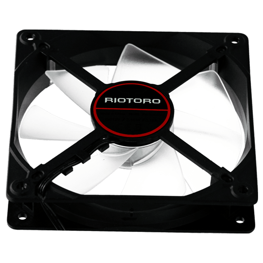Riotoro Cross-X Classic Case Fan, 12CM, Hydraulic Bearing - Red LED