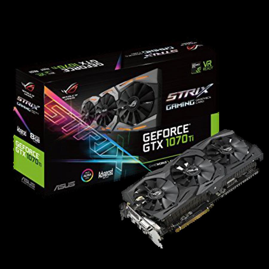 Asus ROG STRIX GTX1070 Ti Advanced, 8GB DDR5, DVI, 2 HDMI, 2 DP, 1759MHz OC, RGB Lighting