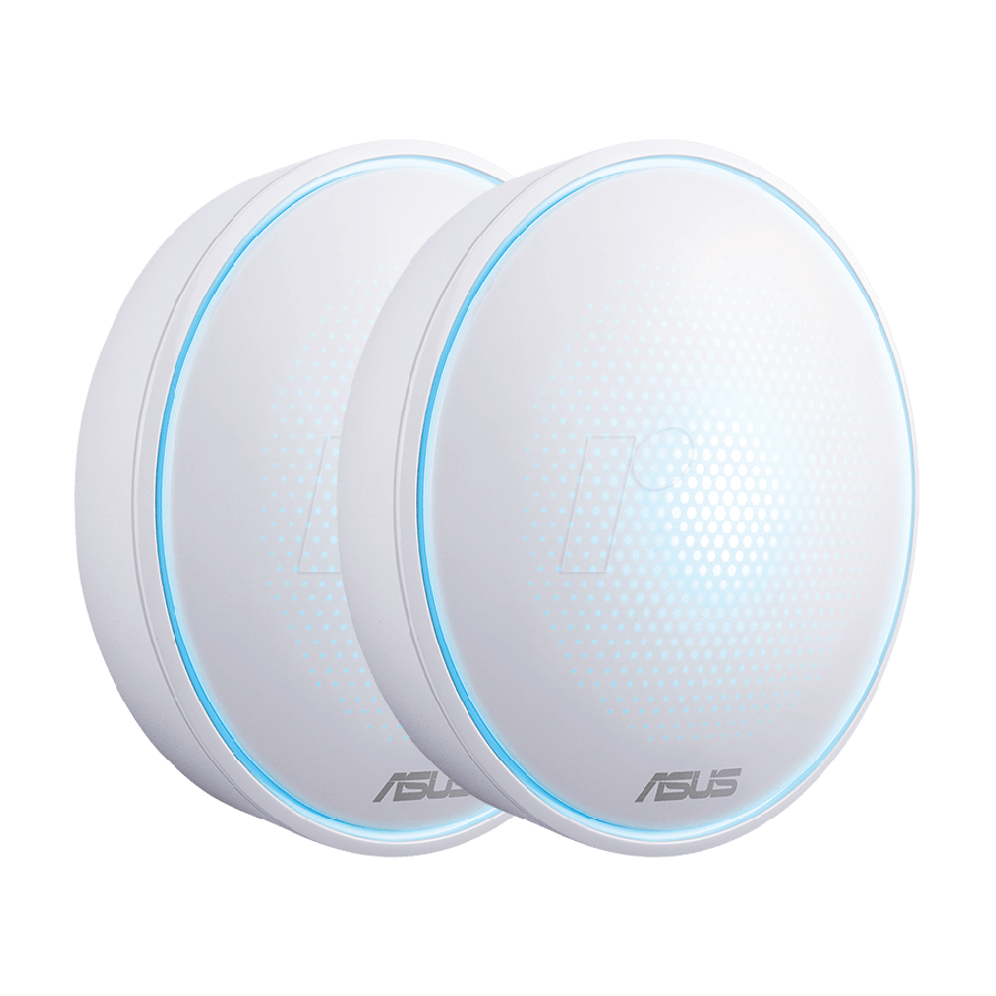 Asus LYRA Mini (MAP-AC1300) Whole-Home Mesh Wi-Fi System, 2-Pack, Dual Band AC1300, Parental Controls, App Management - White