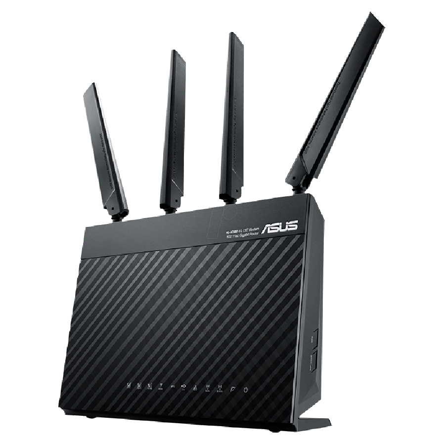 Asus (RT-AC68U) AC1900 (600+1300) Wireless Dual Band GB Cable Router, USB 3.0 - Black