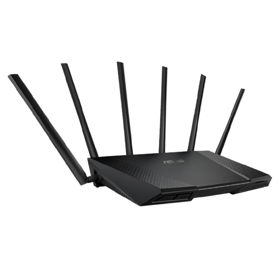 Asus (RT-AC3200) AC2400 (600+1300+1300) Wireless Tri-Band GB Cable Router, USB 3.0 - Black