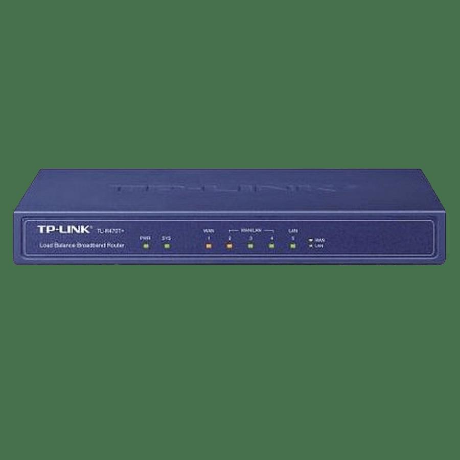 TP-Link (TL-R470T+ V5) Load Balance Broadband Router, 1 WAN, 1 LAN, 3 Changeable WAN/LAN Ports