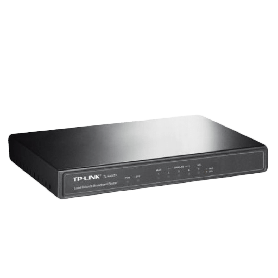 TP-Link (TL-R470T+ V6) Load Balance Broadband Router, 1 WAN, 1 LAN, 3 Changeable WAN/LAN Ports