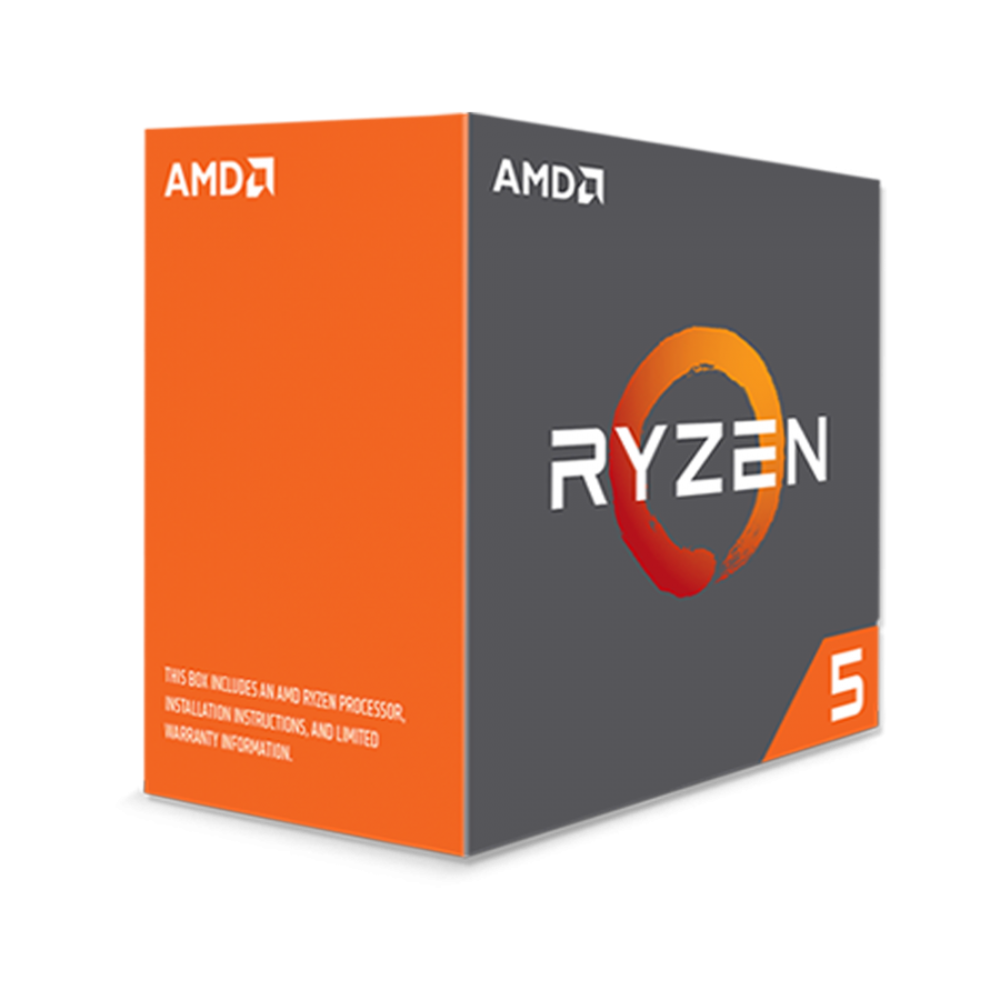 AMD Ryzen 5 1500X CPU with Wraith Cooler, AM4, 3.6GHz (3.7 Turbo), Quad Core, 65W, 18MB Cache, 14nm, No Graphics